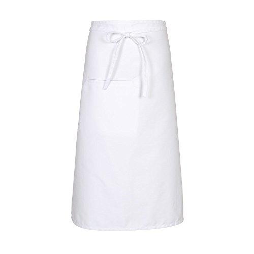 Fame Adult's Inset Pocket Bistro Apron - White - ()