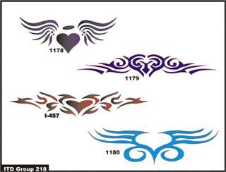Airbrush Temporary Tattoo Stencil Template Set 116 Skull 717 2.5