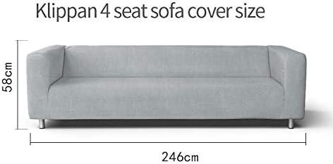 Amazon Com Snug Fit Polyester Klippan 4 Seat Sofa Cover For Ikea