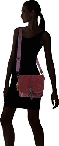 Bensimon Shoulder Bag - Borse a spalla Donna, Violet (Prune), 5x21x25 cm (W x H x L)