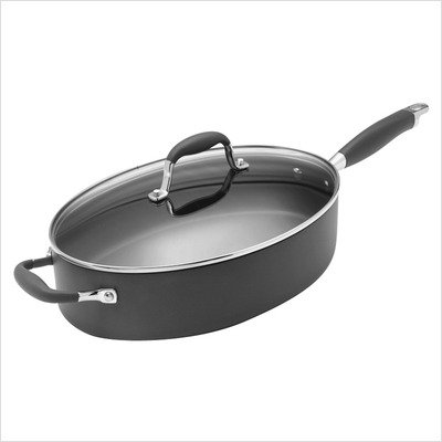 Rachael Ray Anolon Advanced 81965 5 Qt. Covered Oval Saute Pan Kitchen Cookware
