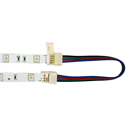 Maylit 10PCS 12MM Free Welding 4-Wires Connector On Both Ends For RGB LED Strip Light, the CONNECTOR Ffrom maylit is defnitely 12MM, PLS DONT WORRY TO CHOOSE IT.what othe seller sells is fake one. maylit is a Trade mark in USA.