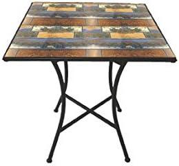 Galileo Casa Capri Tavolo Quadrato Mosaico 83x83x75 Nero Amazon It Giardino E Giardinaggio