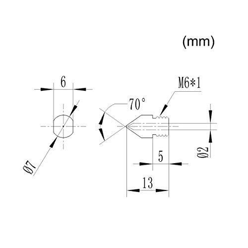 Hardened Steel Nozzle 0.4//0.6//0.8//1//1.2//1.5mm 1.75mm 3D Printer Extruder