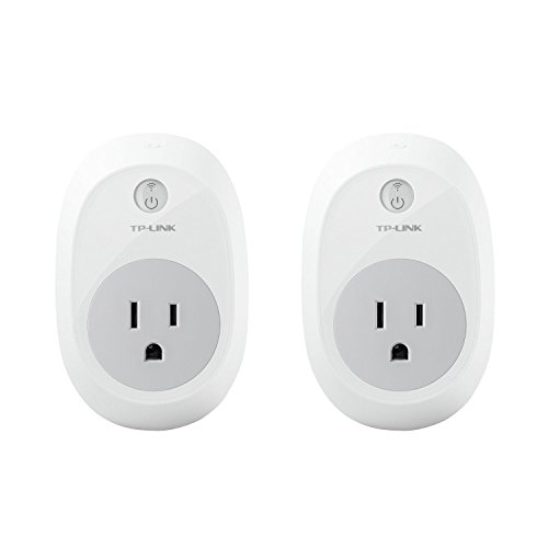 Kasa Smart WiFi Plug by TP-Link (2-Pack) - Reliable WiFi Connection, No Hub Required, Works with Alexa Echo & Google Assistant (HS100 ()