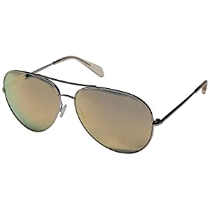 Oliver Peoples Women's Sayer Custom Rose Gold/Pink Mirror Sunglasses
