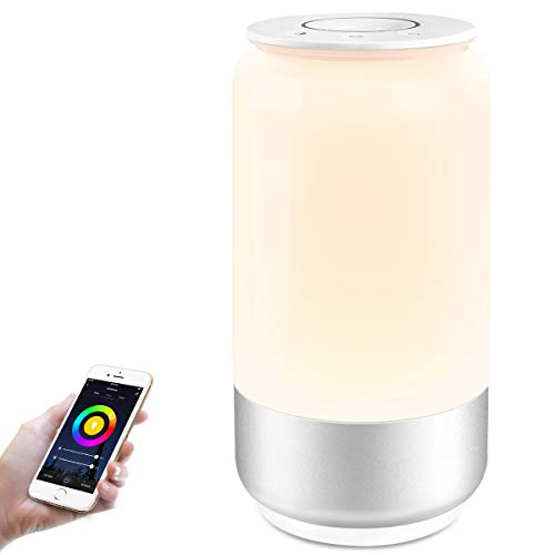 (LE LampUX WiFi Smart Table Lamp Works with Alexa, Google Home, IFTTT, Tunable White & RGB Baby Night Light, Dimmable Bedroom Nightstand Lamp for Bedside Reading, Computer Work, Mood Lighting and More )