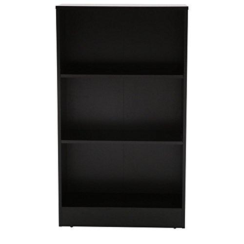 - 3-Shelf Standard Bookcase in Black