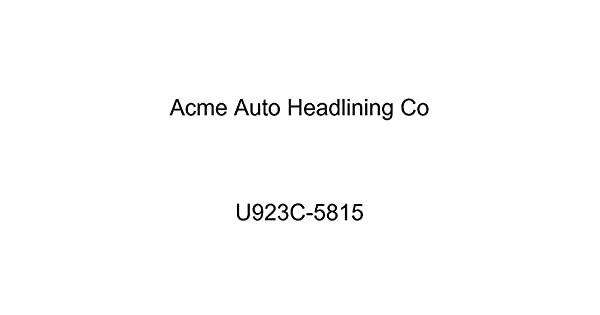 Acme U923C-5815 Front and Rear Dark Charcoal Vinyl Bench Seat Upholstery