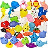 (Assorted Rubber Duck Animals, 40 Pack Mini Bath Toys – for Girls and Boys, Babies, Toddlers and Children – Perfect for Gift Grab Bags and Party Favors)