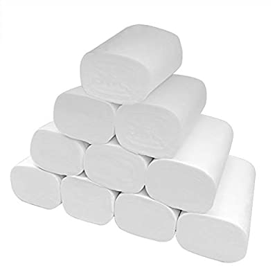Iulove New Strong Soft 4-Ply Toilet Paper Bath Tissue Giant Roll 12 Rolls Paper Multifold Paper Towels Absorbency Pockets White Paper Towels,Soft Skin-Friendly Paper Towels: Home & Kitchen