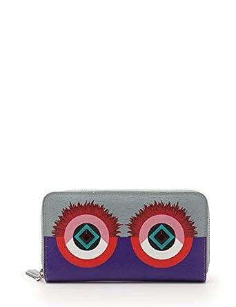 b9ea84535186 Amazon.co.jp: (フェンディ) FENDI モンスター クレヨンズ ラウンドファスナー長財布 レザー 紫 グレー マルチカラー  8M0299 中古: 服&ファッション小物