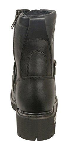Milwaukee in pelle da uomo classico stivali da moto (nero, taglia 12)