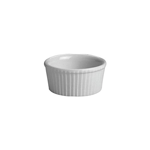 Hall China 834 1/2-WH White 4 Oz. Fluted Ramekin - 36 / CS by Hall China