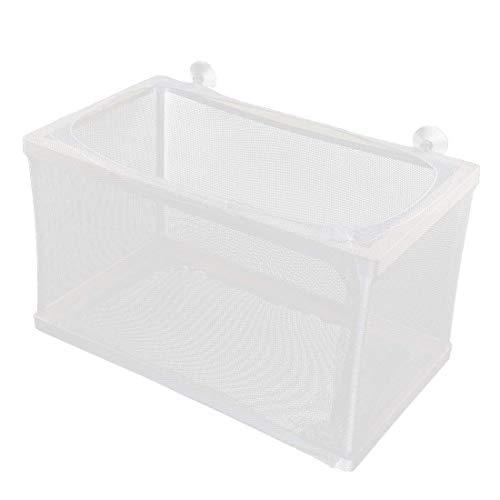 uxcell Nylon Mesh Fish Fry Hatchery Breeder Box Separation Net White