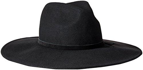 Goorin Bros. Women's Queen of Knives Wool Felt Wide Brim Fedora Hat, Black, Medium