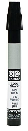 The Original Chartpak AD Marker, Tri-Nib, Cool Gray 2, 1 Each -