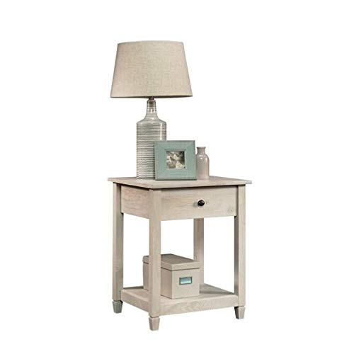 Sauder Edge Water Side Table, L: 19.45'' x W: 18.50'' x H: 24.29'', Chalked Chestnut finish by Sauder