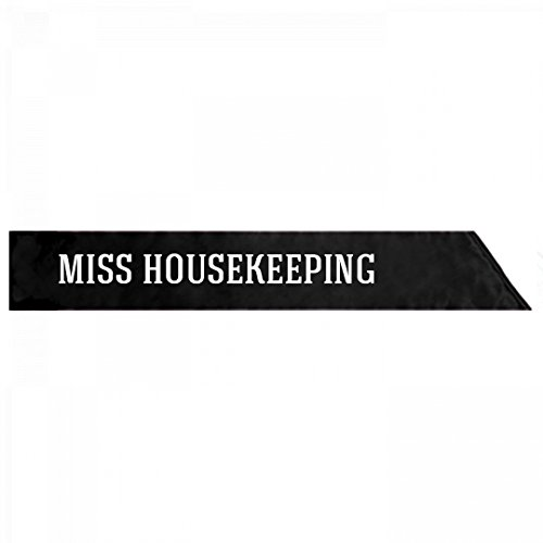 Beauty Queen Costume Sash (Miss Housekeeping Anti-Trump Costume: Adult Satin Party Sash)