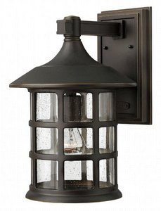 Hinkley Lighting 1805OZ Freeport 1-Light Outdoor Light, Oil Rubbed Bronze