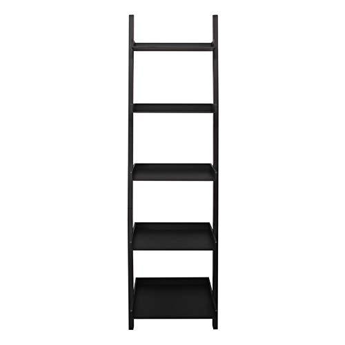 Kiera Grace Hadfield 5-Tier Leaning Wall Shelf - 18 by 67-Inch, Black ()