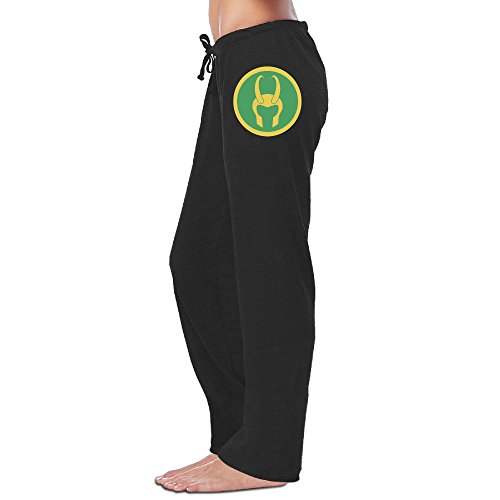 Iruds Women's Loki Helmet Sweatpants Black (Loki Helmet For Sale)