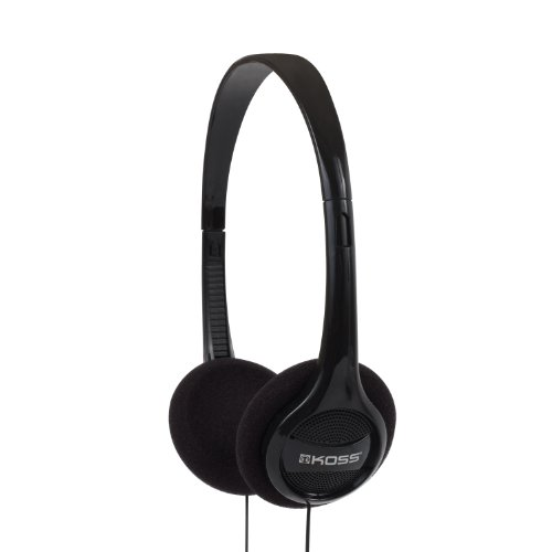 Koss KPH7 Lightweight Portable Headphone, Black Black Portable Stereo Headphones