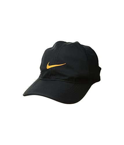 17723dc5bd052 Nike Unisex Court AeroBill Featherlight Tennis Adjustable Cap Black/Black/ Orange Peel (ONE