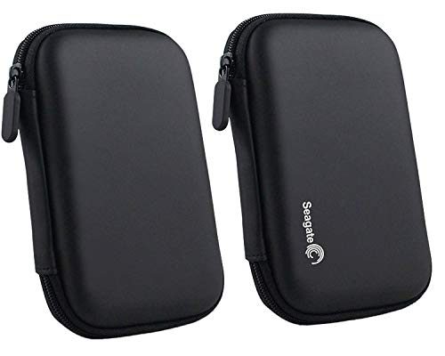 OXYURA Combo of Hard Disk Drive Pouch for 2.5 Inch Hard Drive (Black)