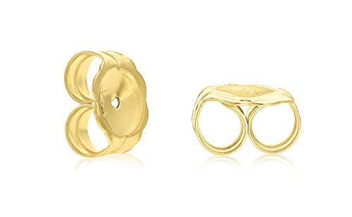 14k Yellow Gold Replacement (Art and Molly 14k Yellow Gold Earring Back Replacement Nut Friction Push-back)