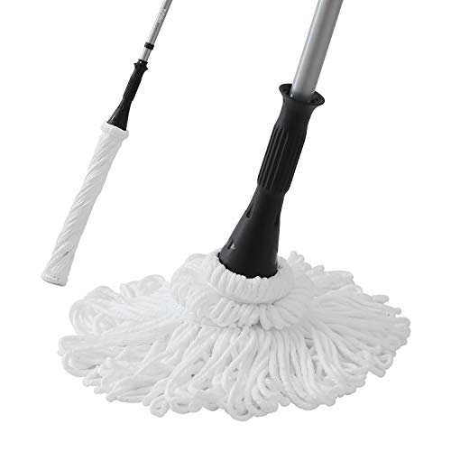 E.yliden Self-Wringing Twist Mop with Removable Stainless Steel Handle for Household Cleaning 56-inch