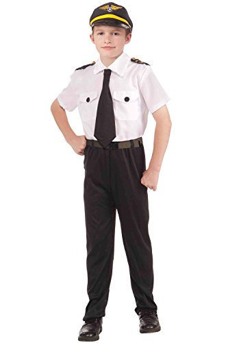 [Forum Novelties Instant Pilot Child Costume Kit, Small] (Pilot Costumes Kids)