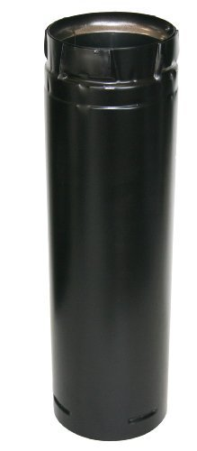 "Duravent 3"" x 12"" Stainless Black Straight Pipe"