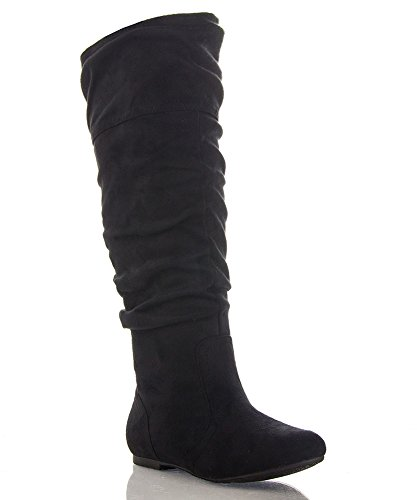 Flat Black Boots for Women: Amazon.com