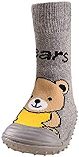 T.w.o.teams Chaussettes de Plancher Anti-dérapantes pour bébé Mignon Chaussettes antidérapantes de Dessin animé Chaussettes de Plancher Chaudes pour Enfants