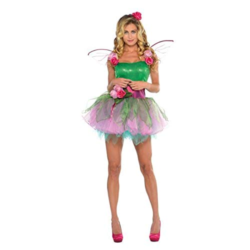 Amscan Adult Woodland Fairy Costume Fancy Dress Size 10-12