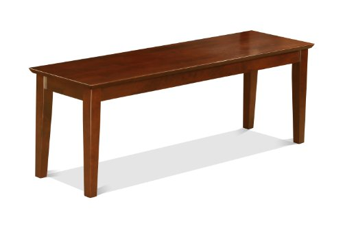 East West Furniture CAB-MAH-W Bench with Wood Seat, Mahogany Finish (Banquette Dining Set)