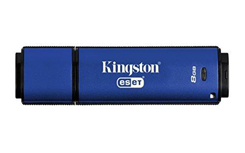 Kingston Digital 8GB Data Traveler AES Encrypted Vault Privacy 256Bit 3.0 USB Flash Drive with ESET AV