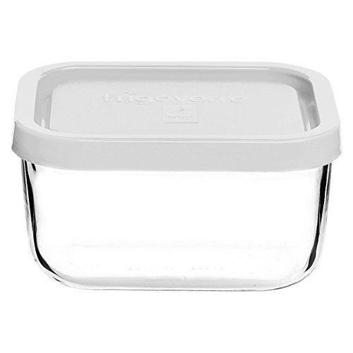(Bormioli Rocco Frigoverre Rectangular Food Container with Frosted Lid)