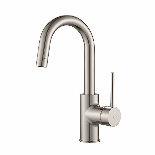 Best Buy! Kraus KPF-2600SS Modern Oletto Single Lever Kitchen Bar Faucet, Stainless Steel