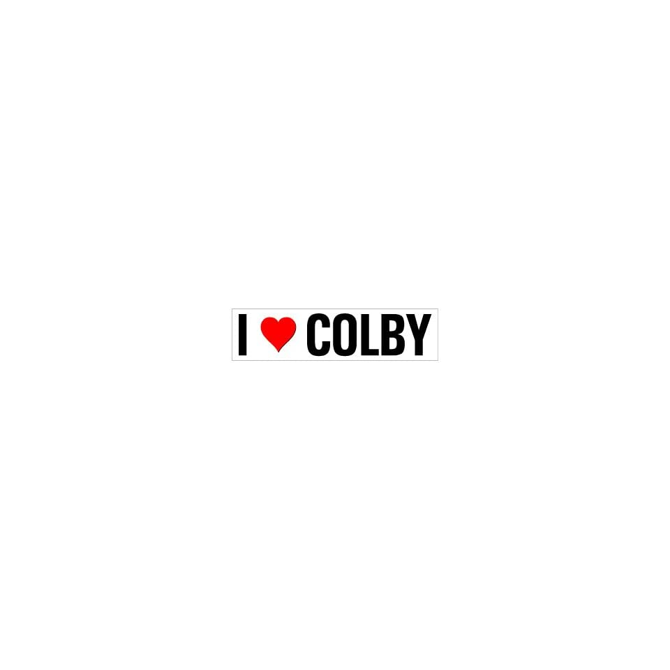 I Heart Love Colby   Window Bumper Sticker