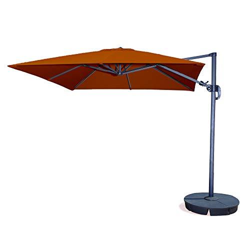 - Santorini II 10-ft Square Cantilever Umbrella in Terra Cotta Sunbrella Acrylic