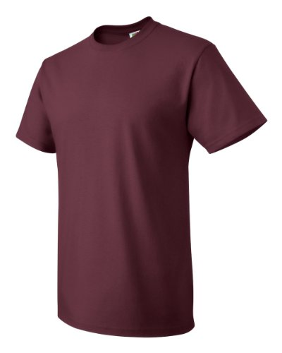 Fruit of the Loom 100% Heavy Cotton T-Shirt (Pack of 6), 4XL, Maroon