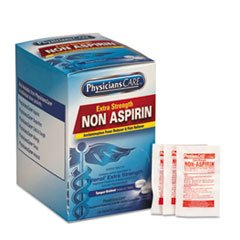 Acme United Corporation Medicine - Pain Relievers/Medicines, XStrength Non-Aspirin Acetaminophen,2/Packet,125 Pk/Bx