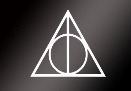 Amazon Harry Potter Vinyl Car Window Decal Deathly Hallows