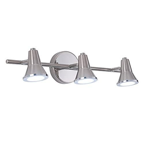 Modern Bathroom Light Fixtures Over Mirror Brushed Nickel 3 Light LED Vanity Lights for Room Decor Wall Lighting Lamps 18