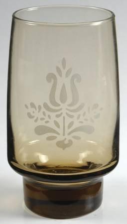 (Pfaltzgraff Village Glass Tumbler 14oz, Pfaltzgraff Village Etched Glass 5-1/2 inchs)