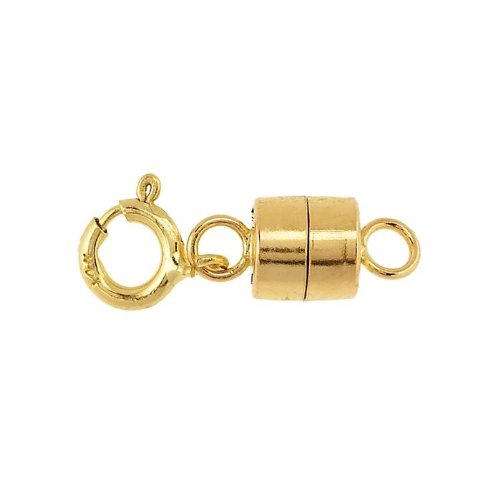 14K Yellow Gold Barrel Magnetic Clasp with Spring Ring Priced Individually Findings