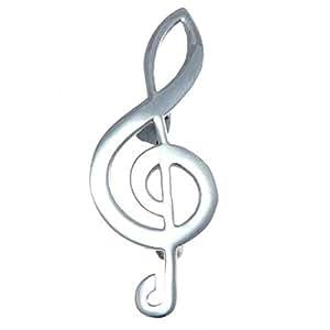 Broche de Clave de Sol de Plata de Ley - Regalos Musicales