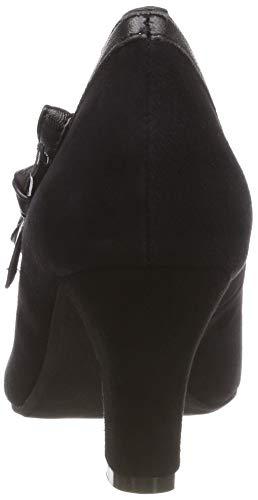 Escarpins 002 schwarz Fermé Noir Hirschkogel Bout Femme 3006856 vWwqWA5a